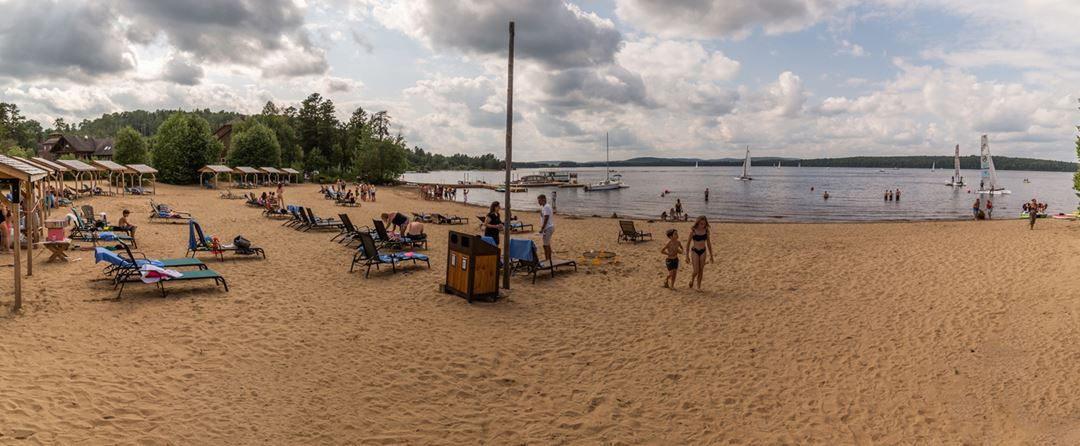 Beach of Auberge du Lac Taureau