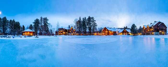 Auberge du Lac Taureau in winter