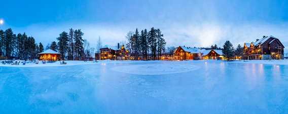 Auberge du Lac Taureau en hiver