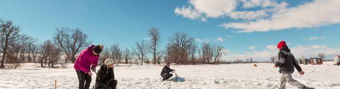 Pêche sur glace Pourvoirie Roger Gladu