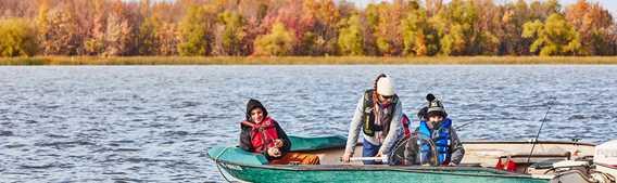 Pêche en automne à la Pouvoirie Roger Gladu