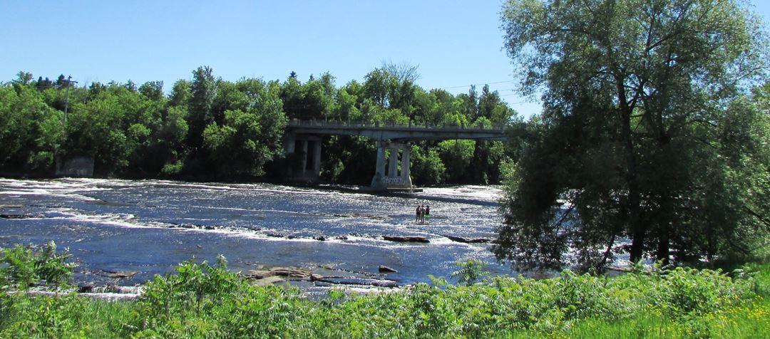 Rivière Ouareau à Saint-Liguori