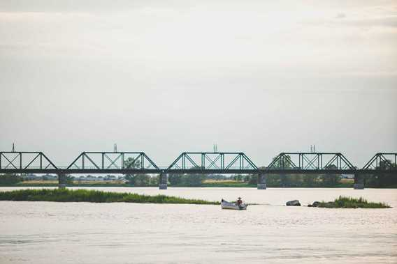 View of Le Gardeur Bridge on the St. Lawrence River