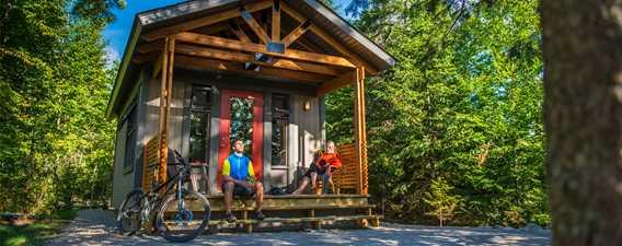 Chalets au parc national du Mont-Tremblant