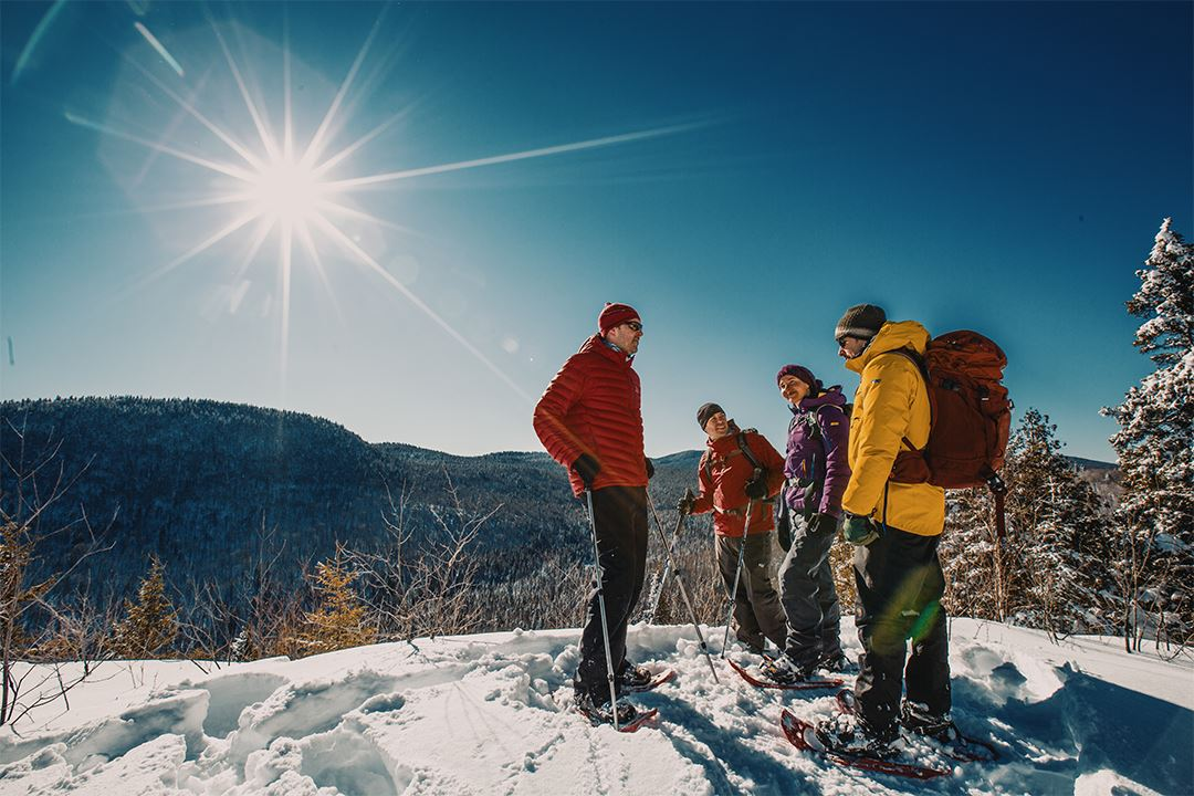 Showshoeing in Parc national du Mont-Tremblant