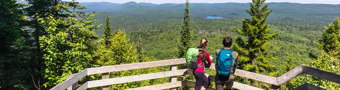 Hiking at Parc national du Mont-Tremblant