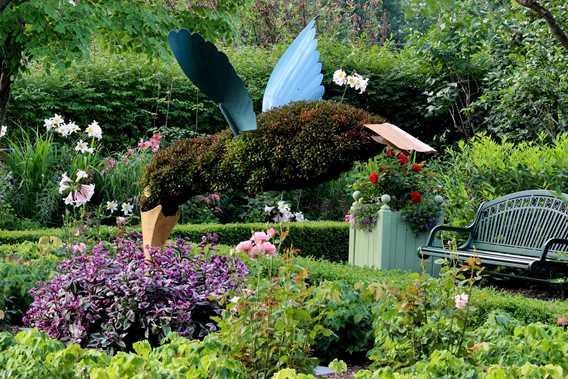 Romantic garden of Maison Antoine-Lacombe