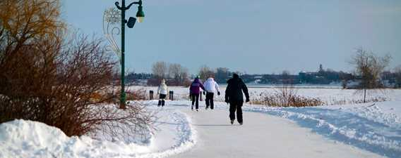 Ice skating Parc régional de l'Île-Lebel