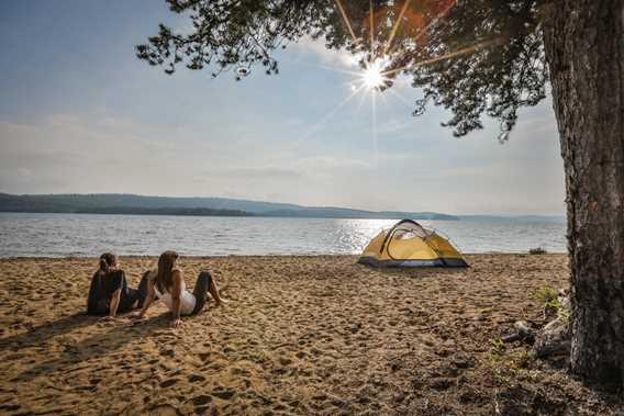 Beach of Parc régional du Lac Taureau
