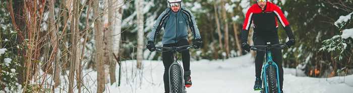 Fat bike à Saint-Donat