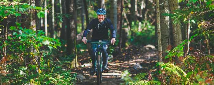 Mountain bike in Saint-Donat