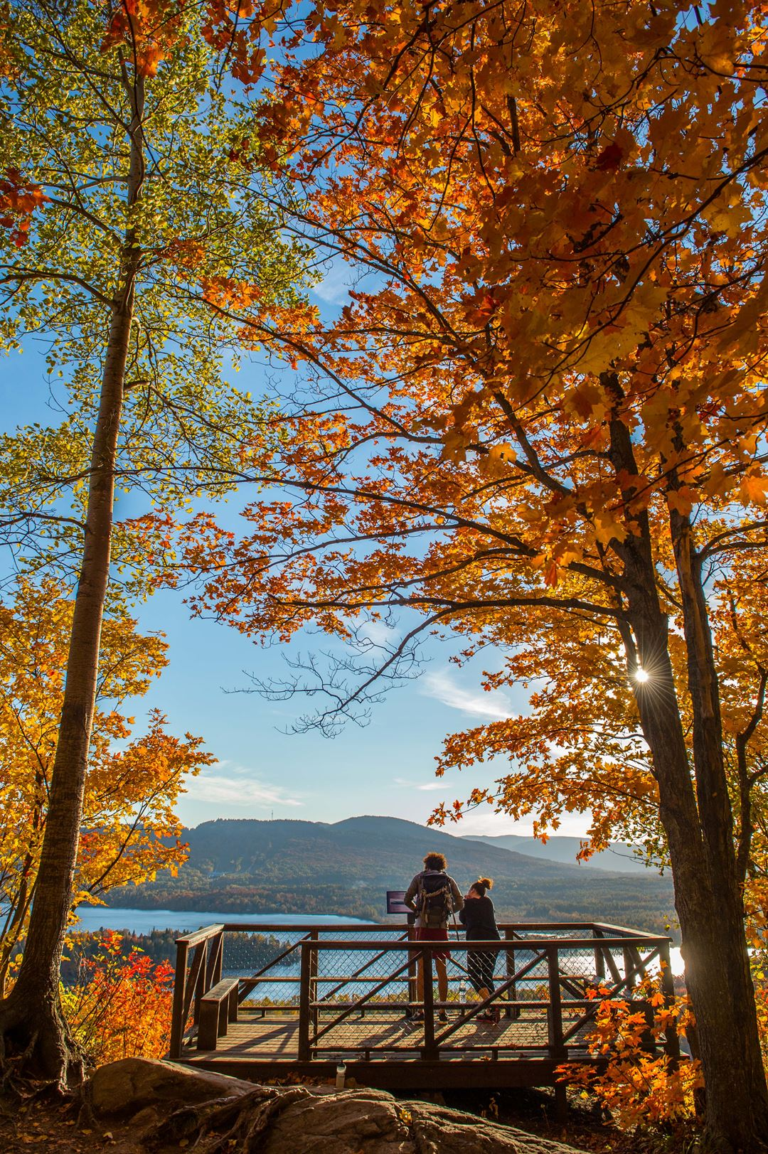 Mont-Sourire in Saint-Donat in autumn