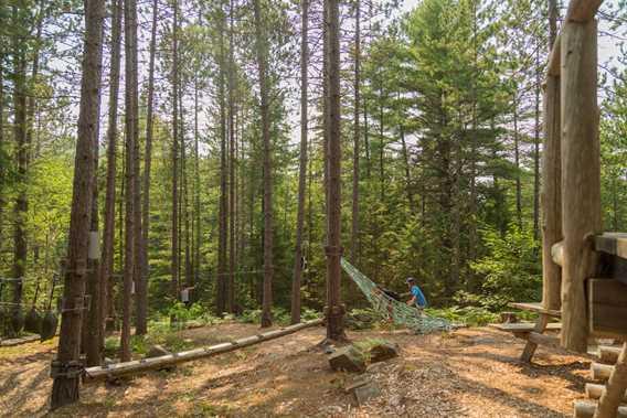 Jeux d'hébertisme Forêt Ouareau