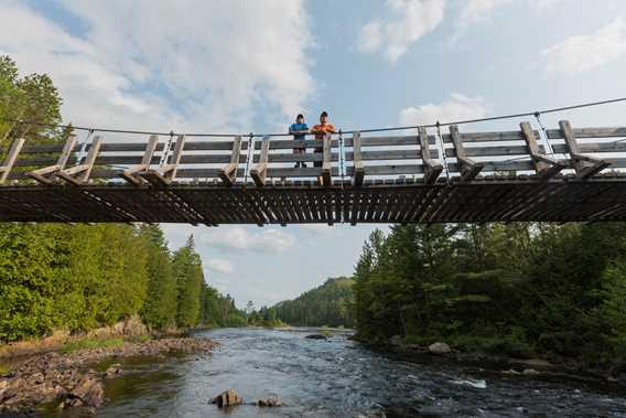 Pont suspendu Forêt Ouareau