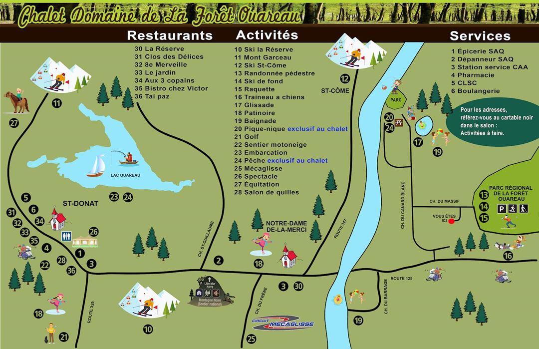 Site map of Domaine de la Forêt Oureau
