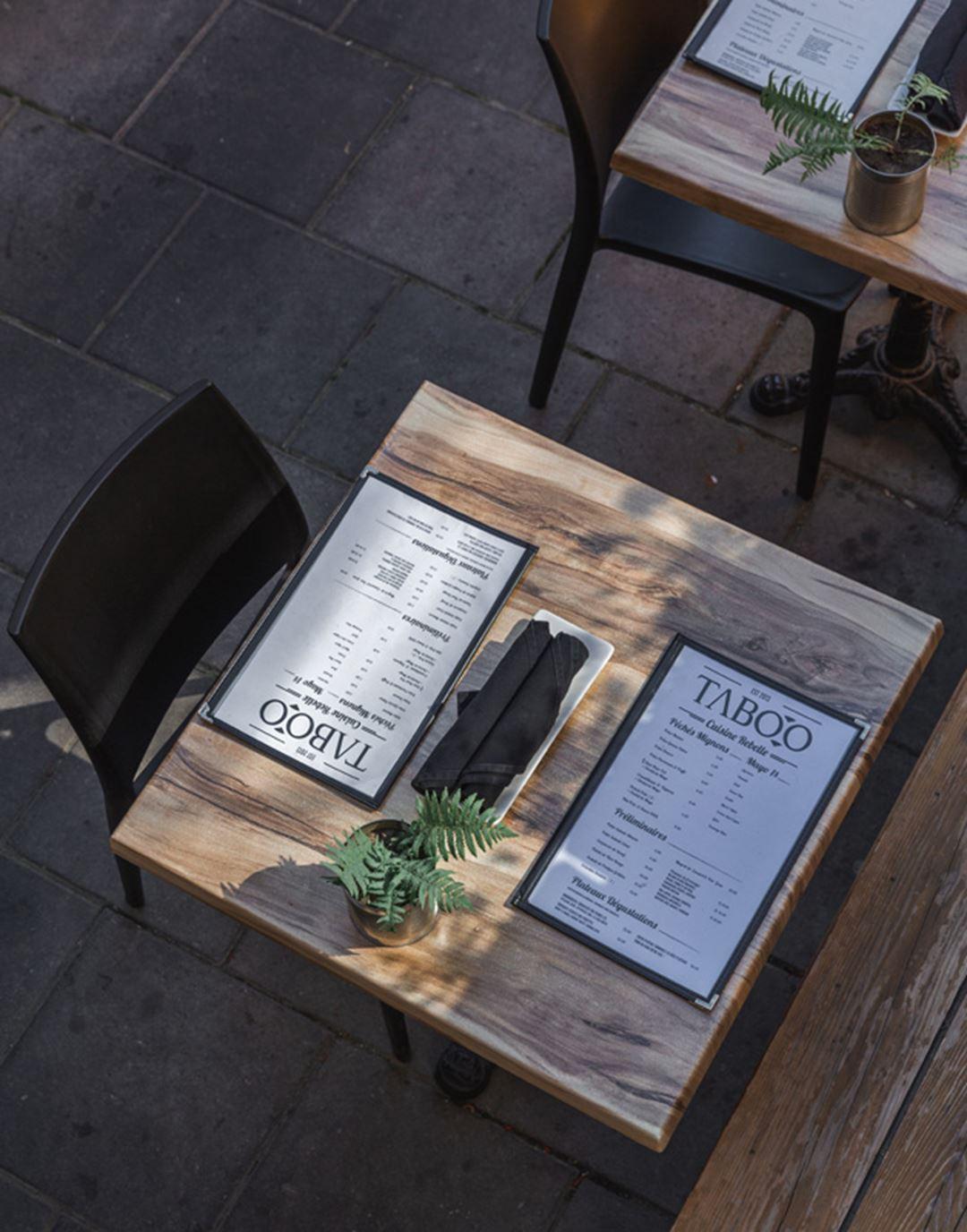 Terrasse du Restaurant Taboo cuisine rebelle