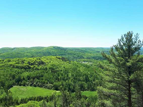Belvedere view at Montagne Coupée