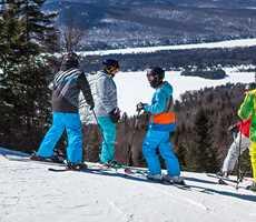 Groupe d'étudiants à Ski Garceau