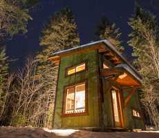 Cabane de Chalets Lanaudière en hiver