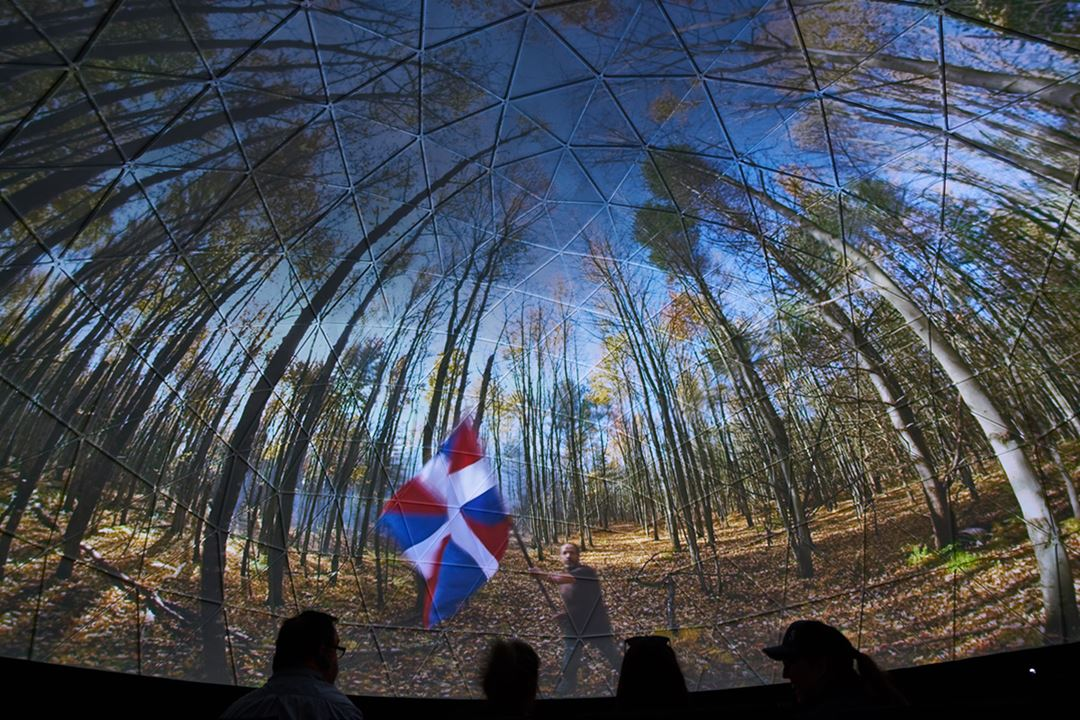 The 360 degree dome - historical projection