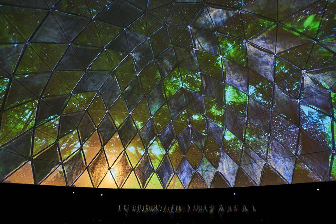 Dôme 360 degrés avec projections