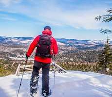 Snowshoeing in Parc des Sept-Chutes