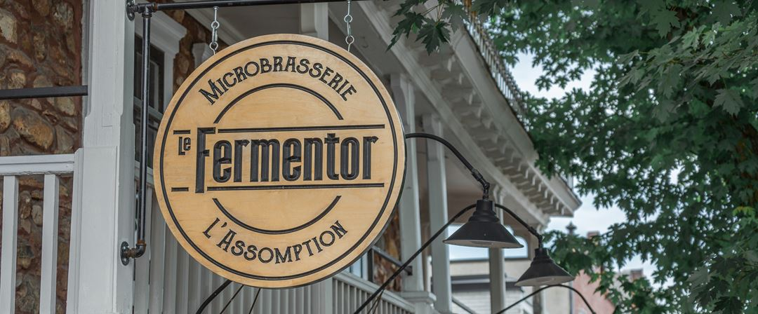 Microbrasserie Le Fermentor sign