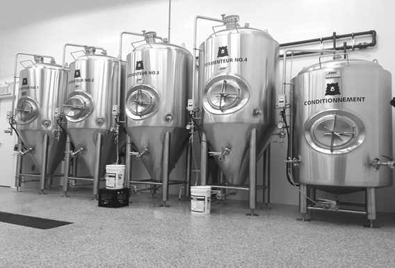 Microbrasserie l'Ours Brun beers fermenteurs