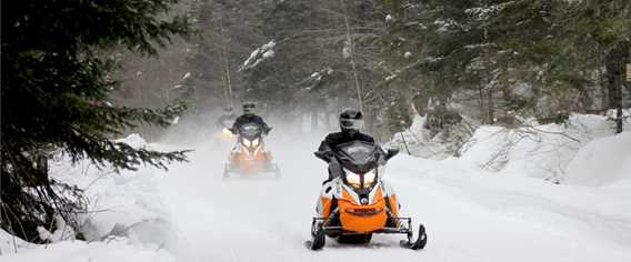 Snowmobile in Lanaudière