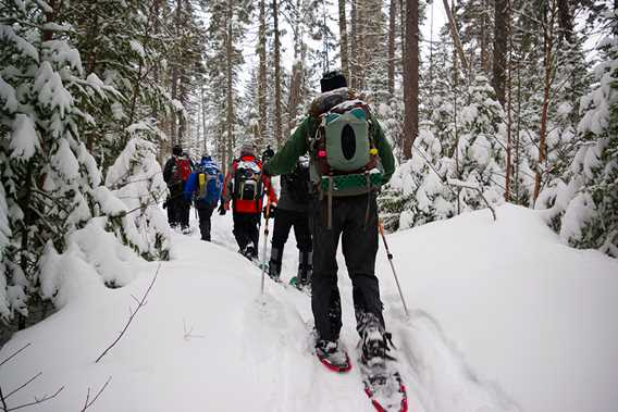 Snowshoeing at Lac Coutu