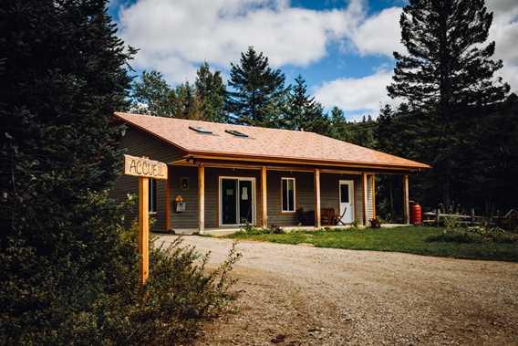 Reception pavilion at Gollé Goulu