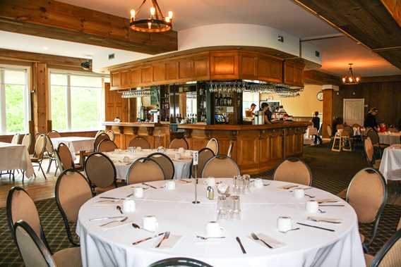 Interior of the reception hall at Rawdon Golf Resort