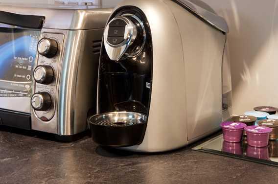 Machine à café dans les chambres du Rawdon Golf Resort hôtel