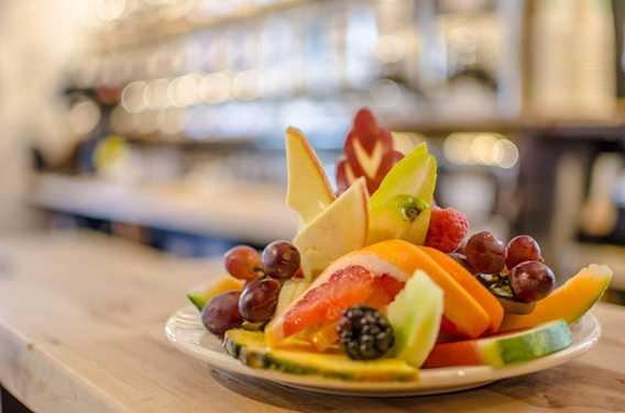 Assiette de fruits à la Brûlerie du Roy Lavaltrie