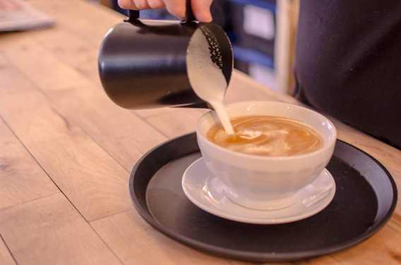 Café latté à la Brûlerie du Roy Lavaltrie