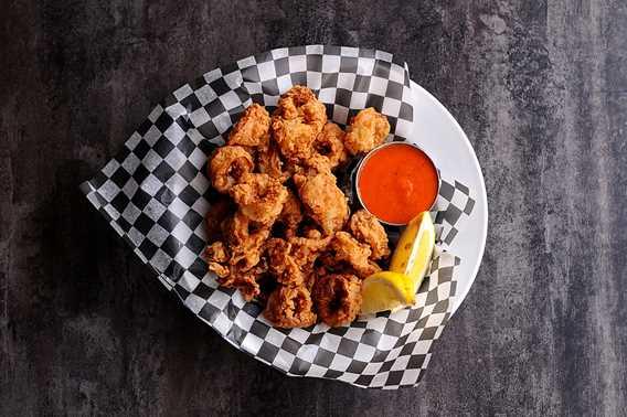 Fried squid at L'Atre restaurant