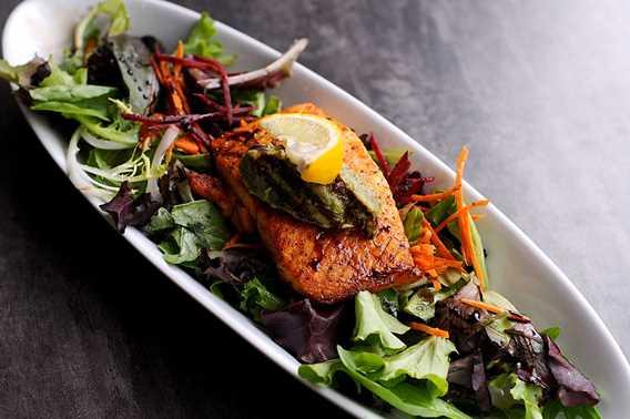 Salmon at L'Atre restaurant