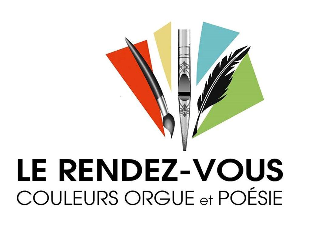 Logo Le rendez-vous, couleurs, orgue et poésie