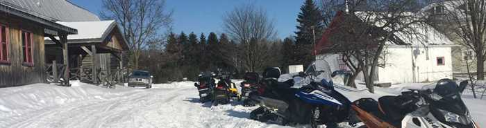 Snowmobile at ULM Québec