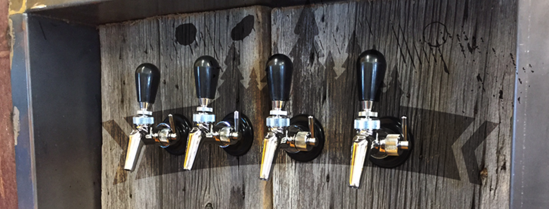 Bec verseur des quatre différentes bières.