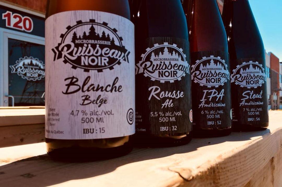 Various bottles of beer.