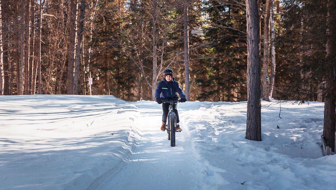 Fat bike au Camp-De-La-Salle