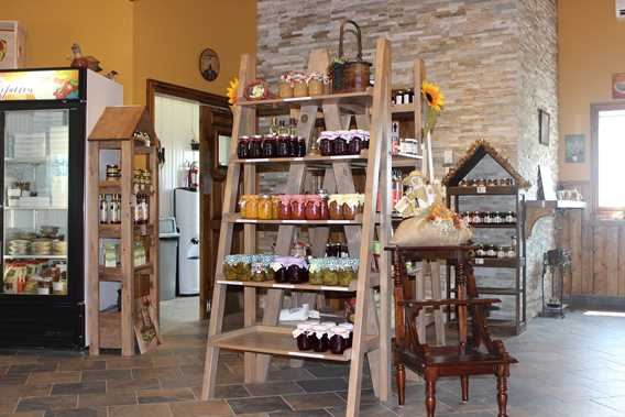 Inside the shop of Ferme Marc Leblanc