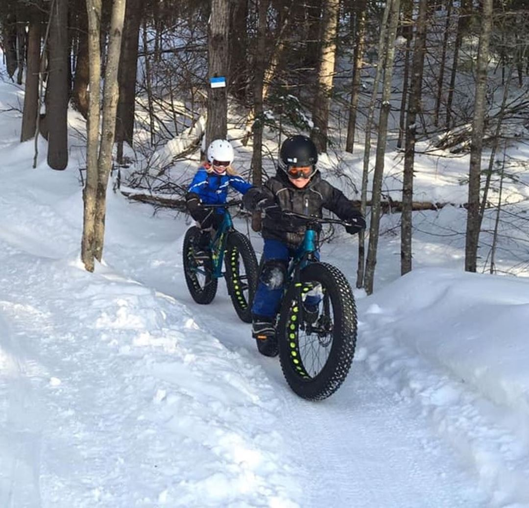 Fat bike in winter à la Tournée des Cantons de Rawdon