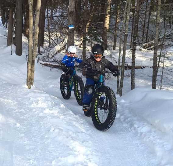 Fat bike in winter à la Tournée des Cantons de Rawdon