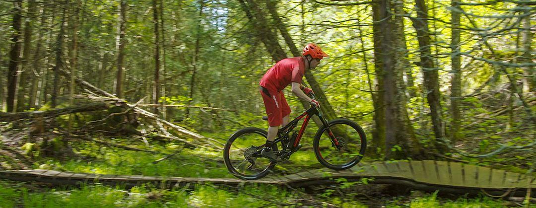 Mountain bike at Parc Louis-Philippe De Grandpré