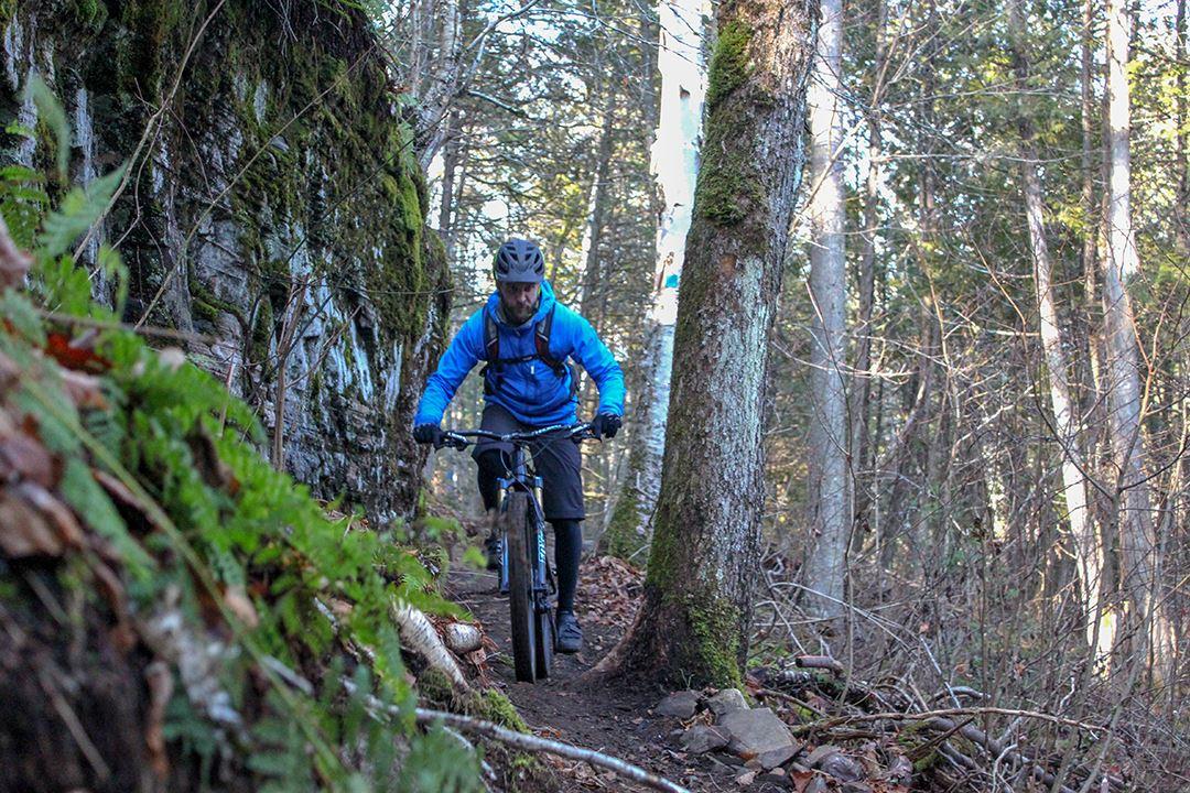 Mountain bike at Parc Louis-Philippe-De Grandpré