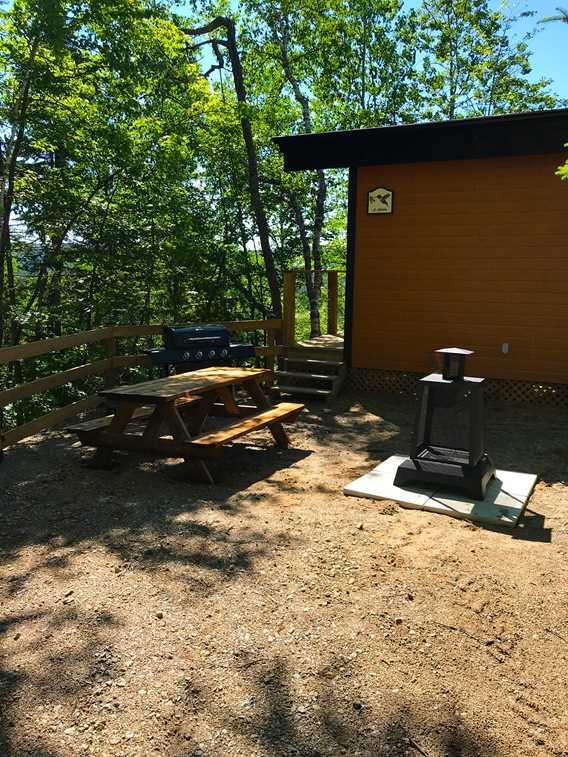 Plaisirs passion plein air, outdoor of Le Colibri shelter