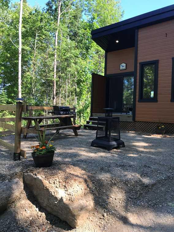 Plaisirs passion plein air, outdoor of Le Geai Bleu shelter