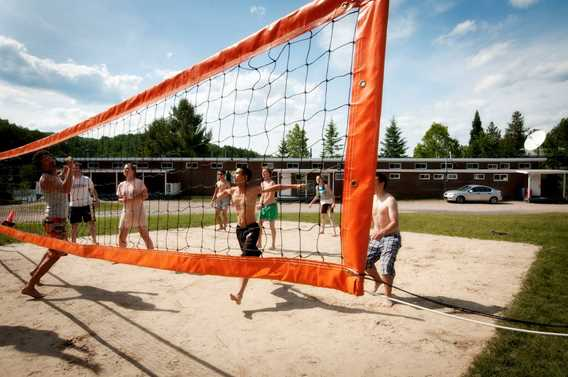 Volleyball at Plein Air Lanaudia vacations centre